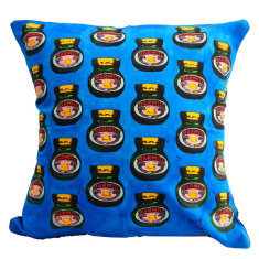 Marmite blue cushion