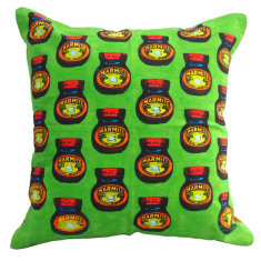 Marmite green cushion