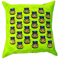 Marmite lime cushion