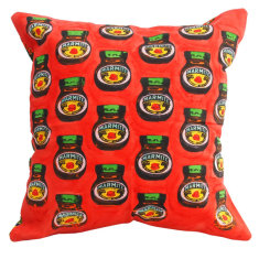Marmite red cushion