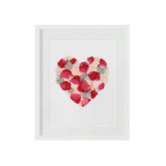 Maroon love heart print