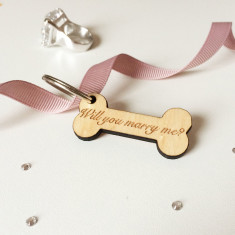 Will you marry me? Dog tag