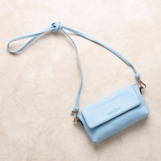 Mini cross body bag in sky blue