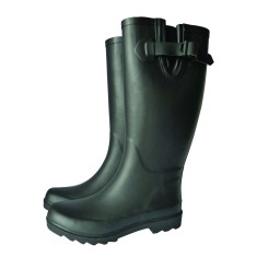 Matt boot wellies in black