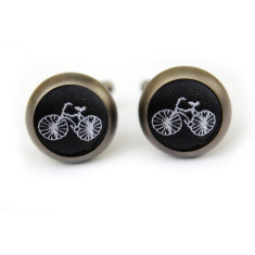 Bike cufflinks in matt black