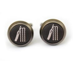 Cricket cufflinks in matt black