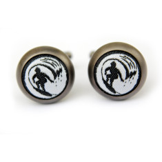 Surf cufflinks in matt black