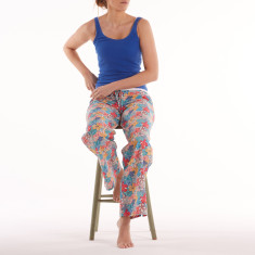 Lounge pants in mauvey bright