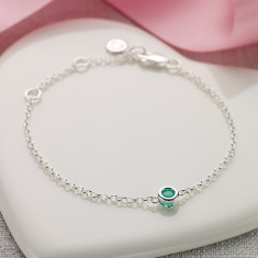 May birthstone bracelet in diamond