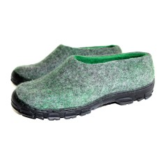 Men's Wool Clogs Green Woolf
