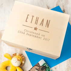 Personalised Baby Boy Christening Box