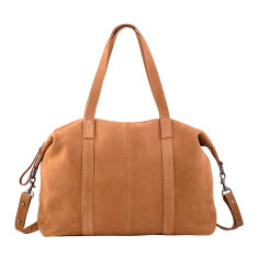Fall of Hearts leather bag in tan