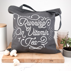Running On Vitamin Tea Tote Bag