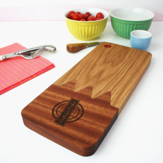 Solid Wood Personalised Serving Platter Board