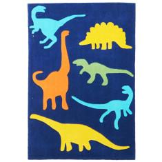 Dino Rawr Blue Rug