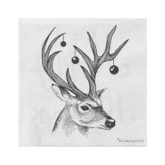 Happy holidays deer serviettes (set of 20)