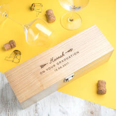 Personalised graduation wine box