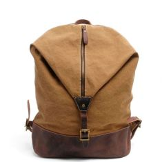 Canvas backpack in tan