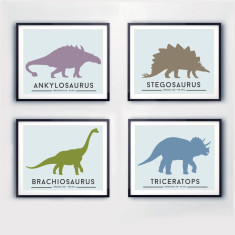 Dinosaur wall art (set of 4)
