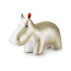 Zuny bookend classic hippo gold