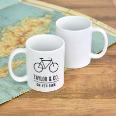 On Yer Bike Personalised Adventure Mug
