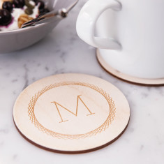 Personalised letter drinks coaster