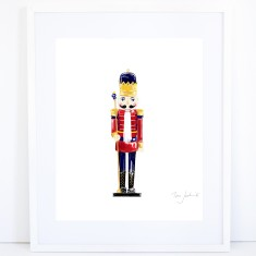Christmas Nutcracker Print - Red