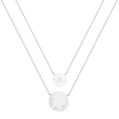 Personalised Layered Double Disc Chain Necklace