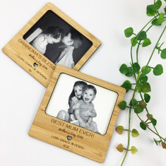 Personalised magnetic bamboo frame