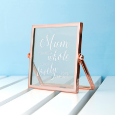Engraved You're Lovely Rose Gold Frame