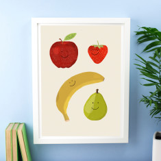 Happy Fruit Print