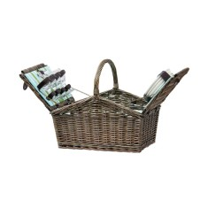 Sorrento Traditional Wicker Picnic Basket for 4 People