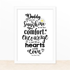 We love Dad personalised print