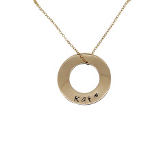 Circle of love 18K gold filled personalised necklace