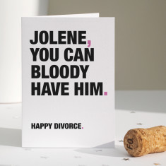 Funny divorce card