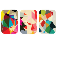 Geometric abstract art prints (set of 3)