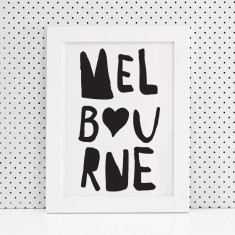 Hearting Melbourne print