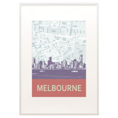 Melbourne skyline print