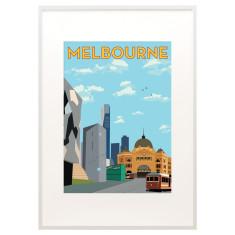 Vintage inspired Melbourne print