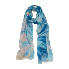 Blue haze luxe scarf