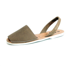 Men's Morell leather sandals in putty