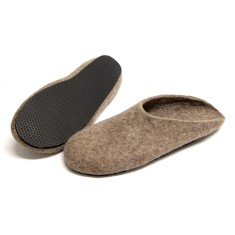 Men's felted slippers in eco-friendly  wool (various sole colours)