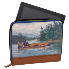 Ted Baker men's tablet sleeve in canoe