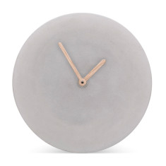 Concrete wall clock by MenschMade