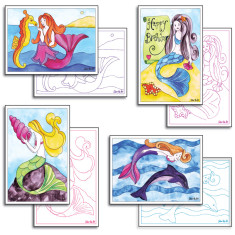 Mermaid card making pack