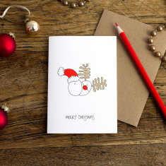Merry Christmas greeting card (pack of 6)