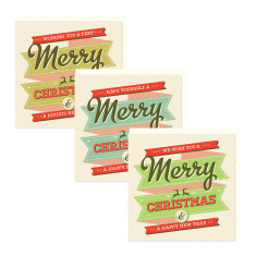 Merry Christmas cards (set of 6)