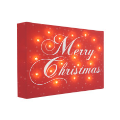 Merry Christmas illuminated canvas
