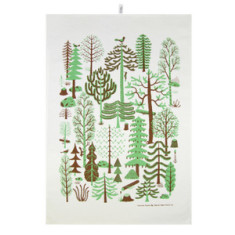 Metsa tea towel in green
