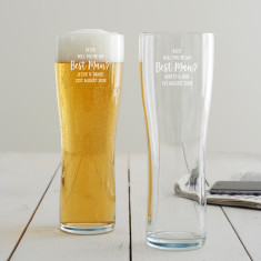 Personalised 'Will You Be My Best Man?' Pint Glass